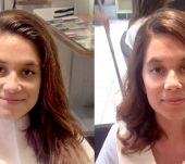 Before/After: floaty curls from the Style Bar