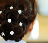 Hairstyles adorned with rhinestones
