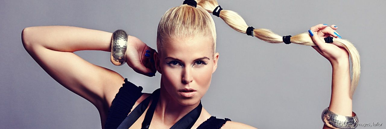 Take a look at this ponytail with a difference
