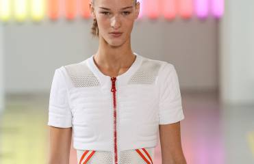 Dare to try the high ponytail with crimped lengths?