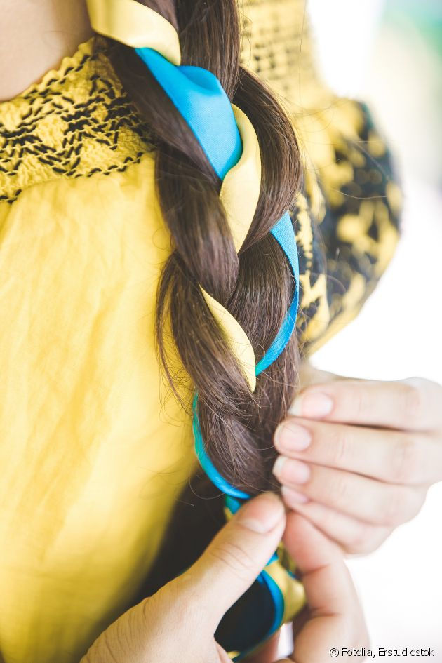 Give your braid a new look with ribbon