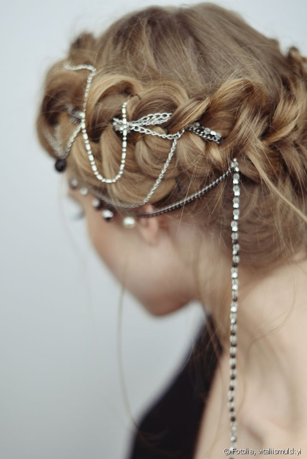 Create a jewelled braid for the holidays