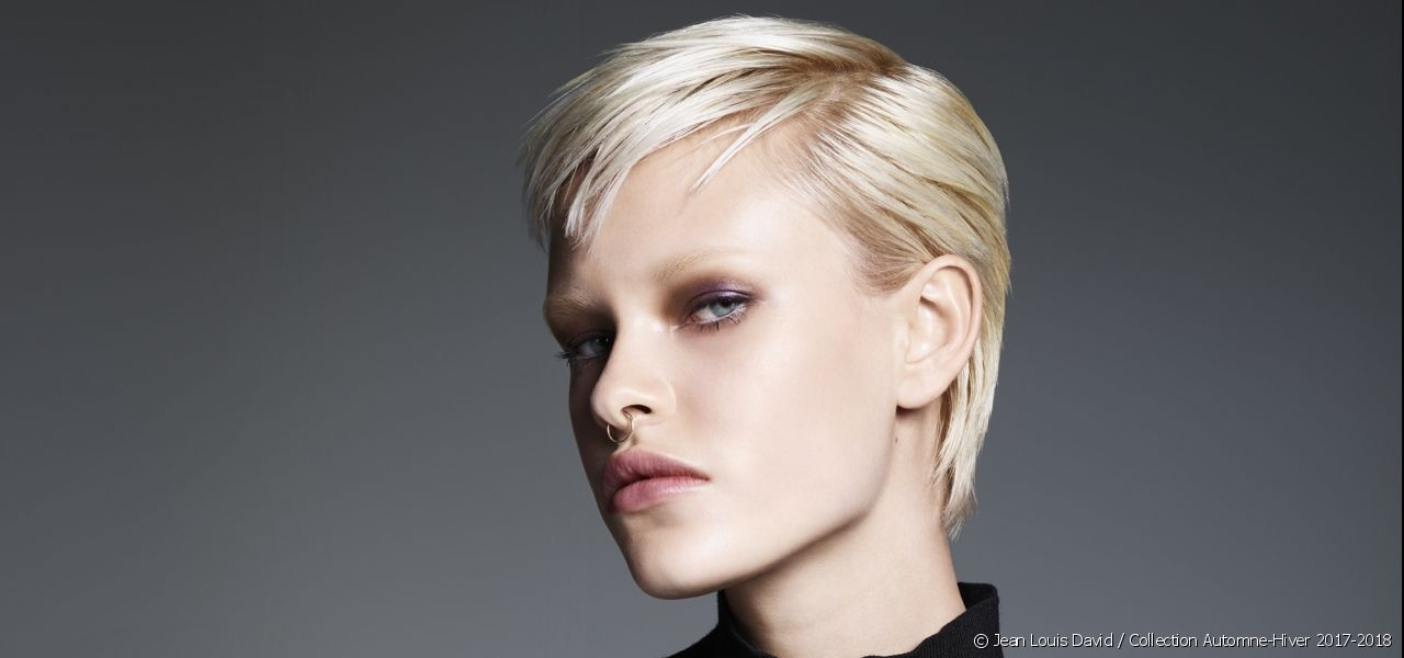 This season at Jean Louis David, this short haircut is multi-faceted and plays with masculine-feminine styles