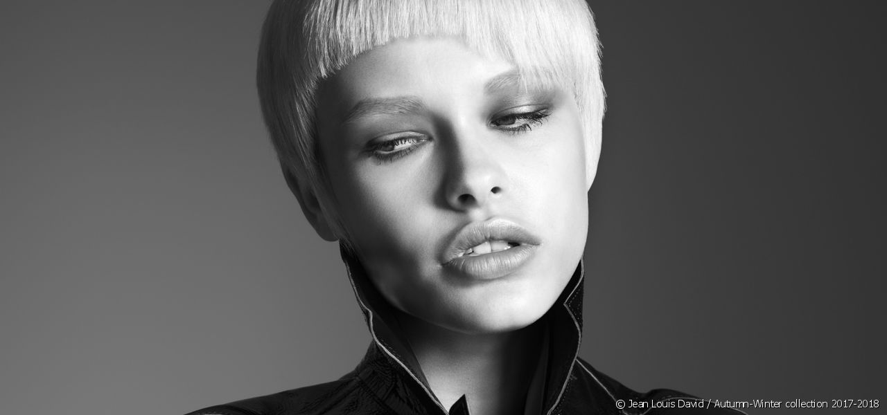 This season at Jean Louis David, fringes are going asymmetrical to give a punk look to short hair