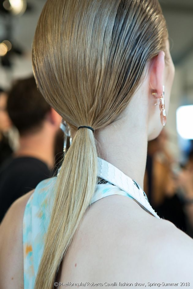 Foolproof instructions for creating a poker-straight ponytail.