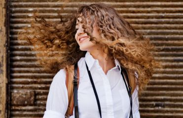 How can you relax curly hair?