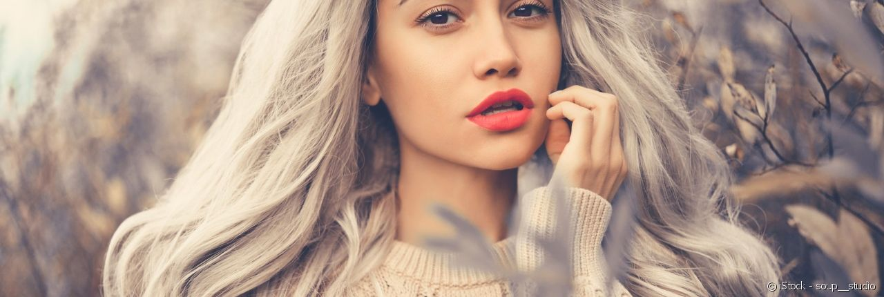 Find out what make-up perfectly complements your grey locks.