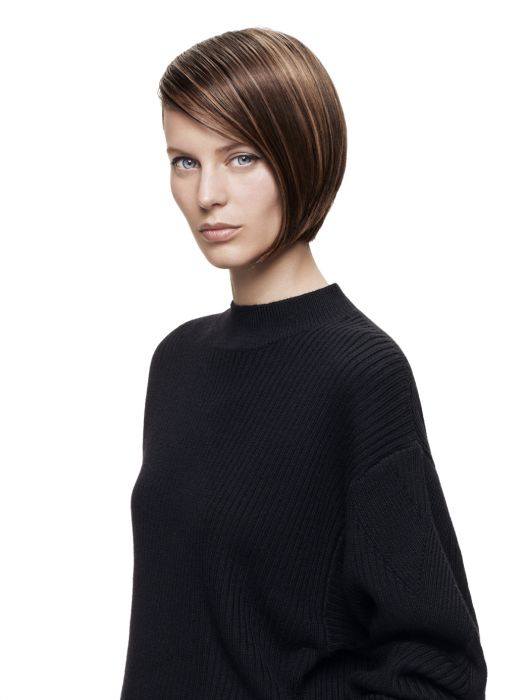This season at Jean Louis David bobs are getting an asymmetric look, enhanced by a shade of brown with an array of highlights