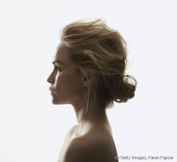 The floaty chignon for a romantic style.
