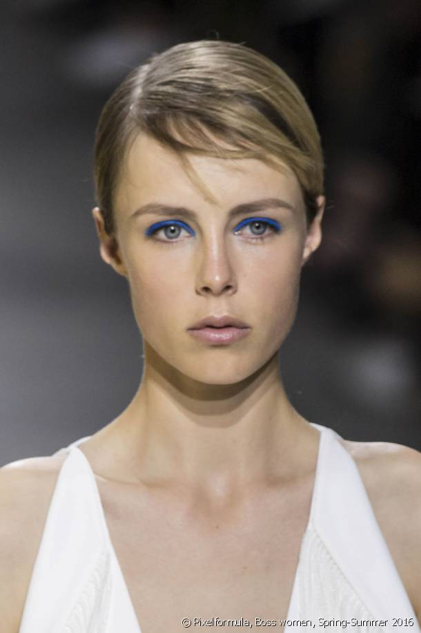 Create the flattened down short haircut look