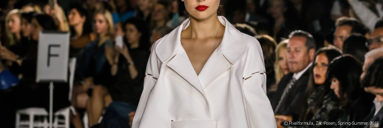 On trend make-up to wear with a slicked back chignon.