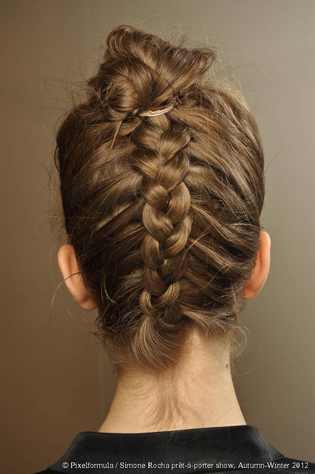 The braided French twist