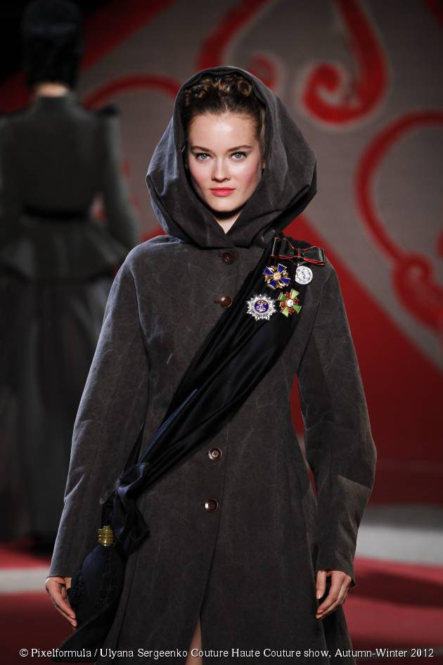 Spotted on the catwalks: the snow queen hood