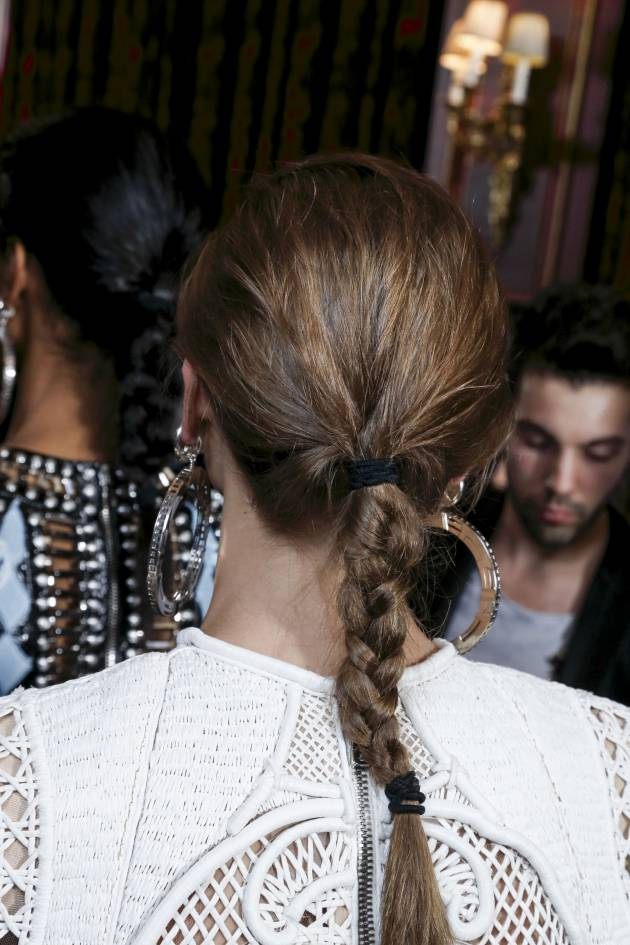 How to create the braided ponytail