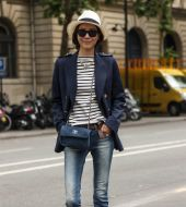Streetstyle: how to wear the Panama on short hair