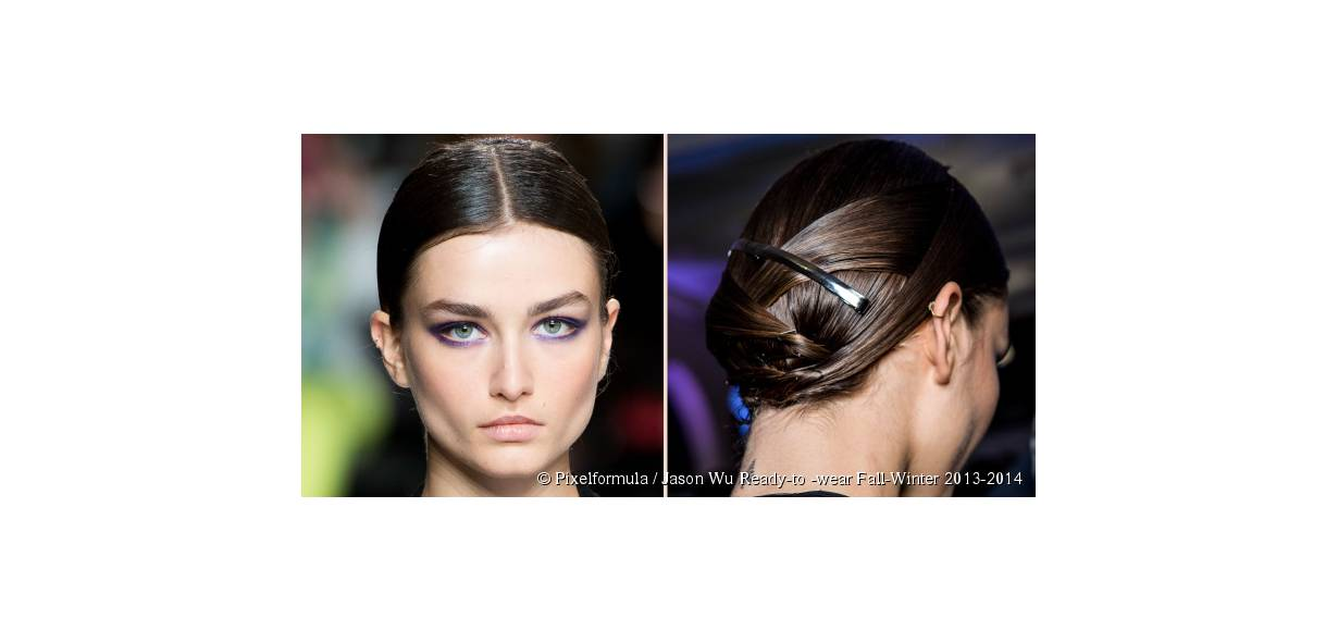 Spotted on the catwalks: the chromed hair barrette