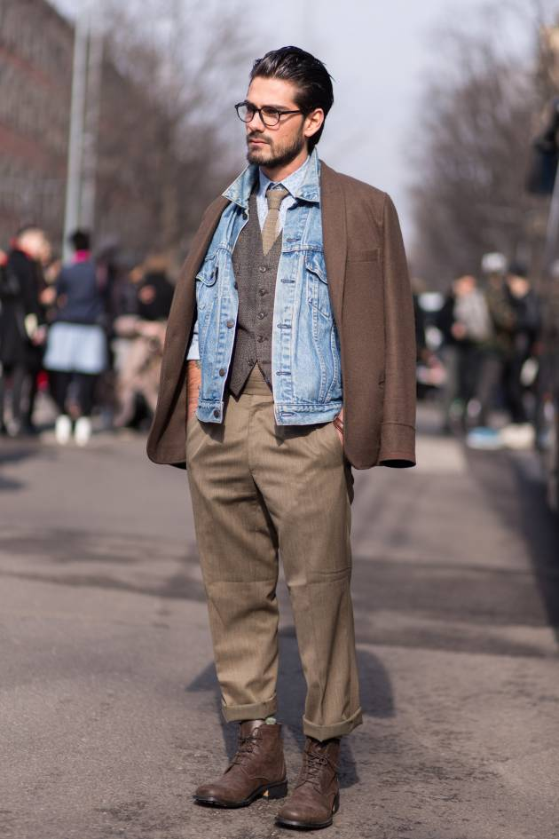 Streetstyle: gelled hair for guys