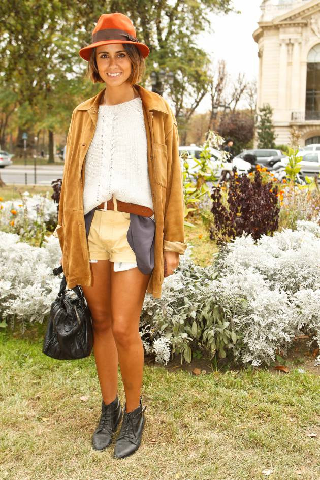 Streetstyle: short bob and fedora hat