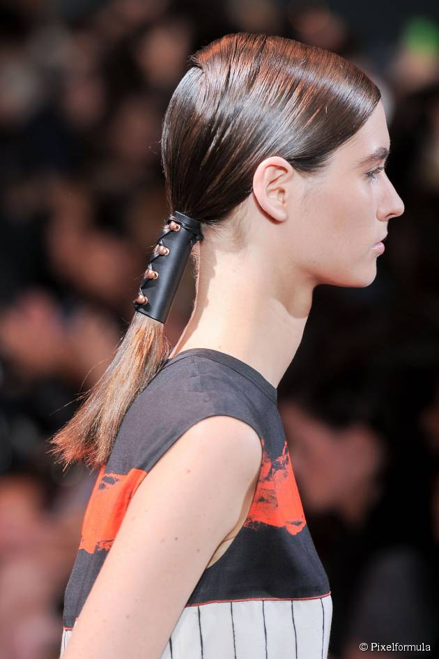 The cuffed ponytail