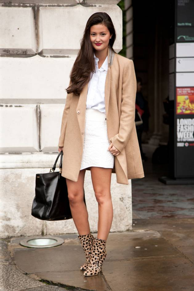 Streetstyle: create a chic look with a side-swept style