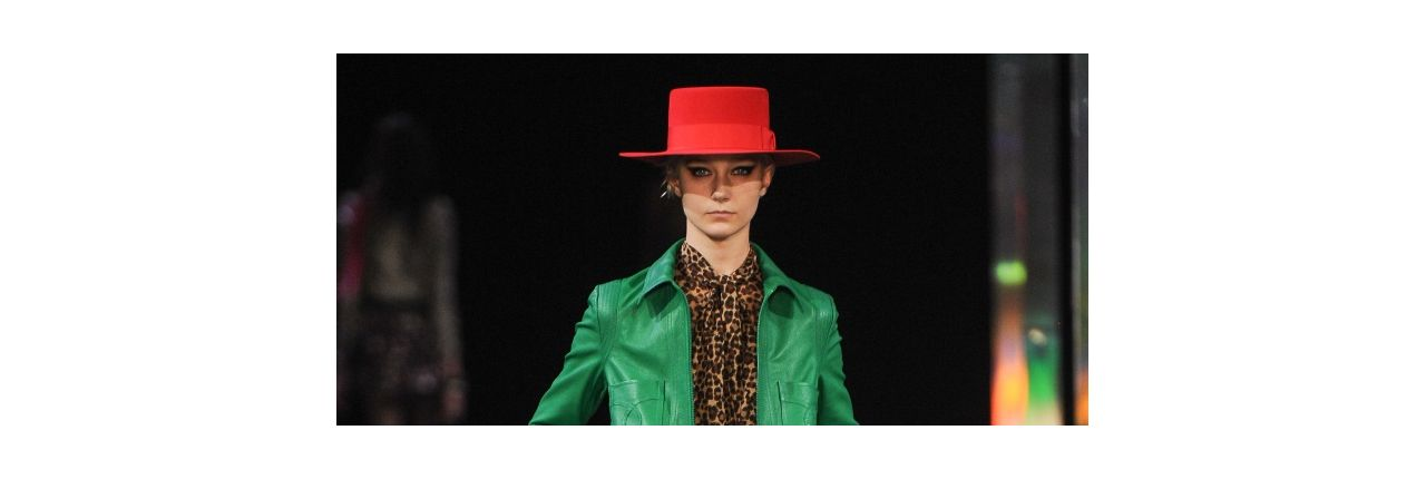 Add a pop of color with a statement hat