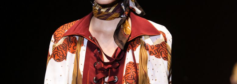 The classic ponytail spotted on the Gucci runway