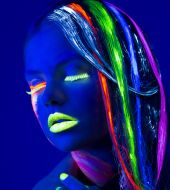 Hair colouring: fluorescent glow-in-the-dark locks