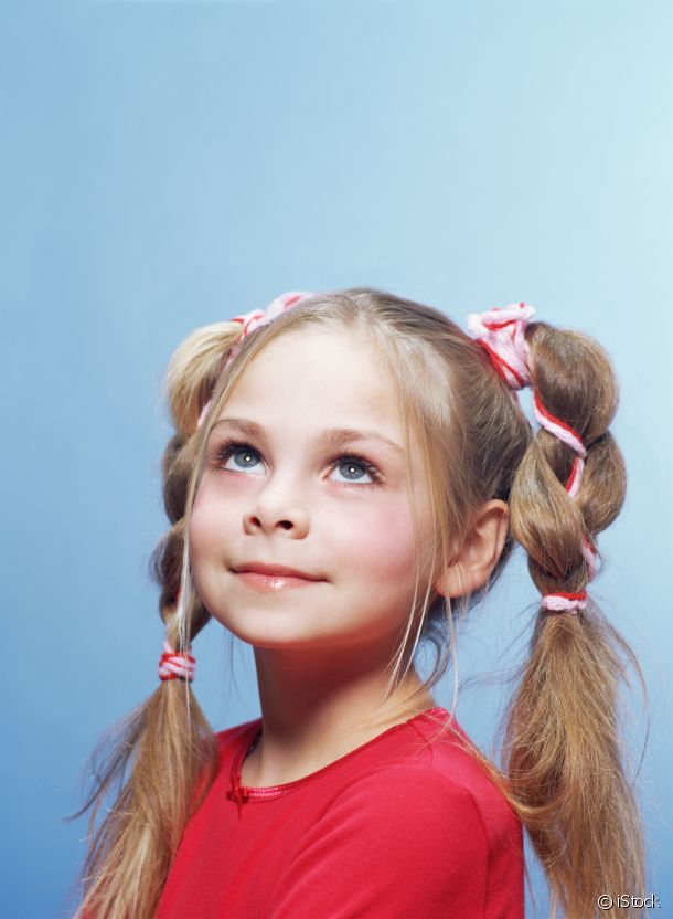 Ribbons, braids and a pretty hairstyle for school