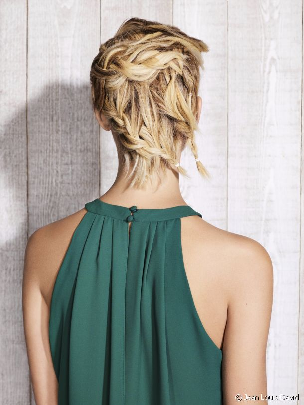 The Rock & Braids updo by Jean Louis David