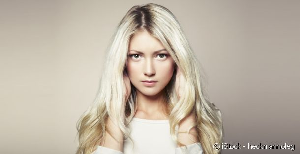 Blonde hair colouring: platinum blonde