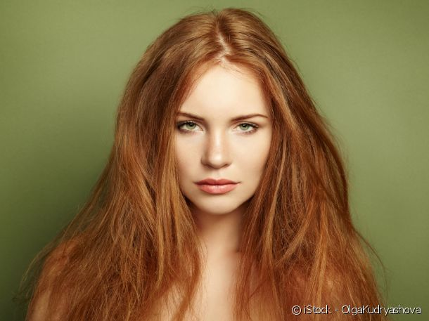 Red hair colouring: light red for pale to golden complexions