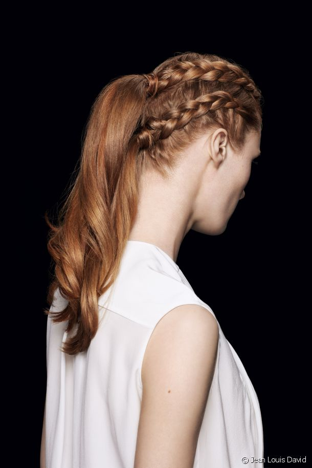 the hairstyle's braided side!
