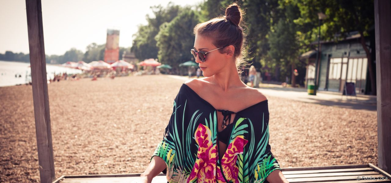 The top knot, practical for keeping you cool.