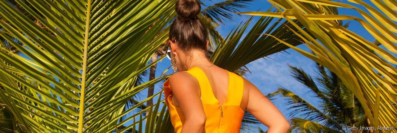 Take a look at these four effective hairstyles for when it's extremely hot outside.