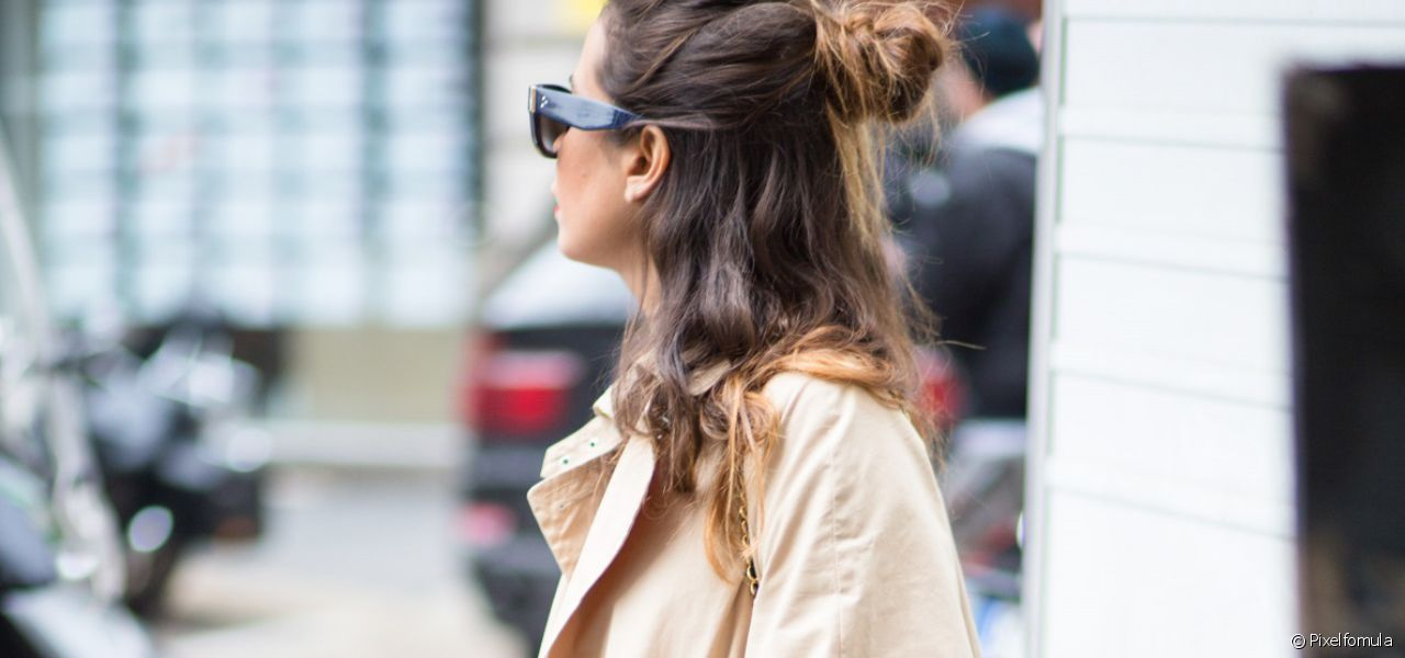 Try out this on-trend easy-to-create half-bun.