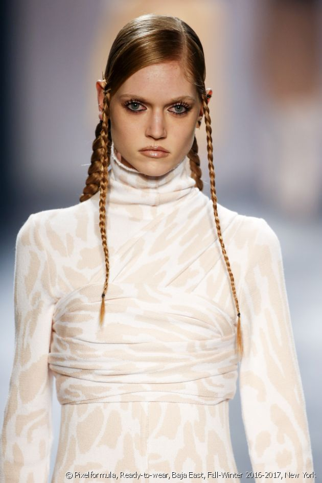 A new trend: tight thin braids.