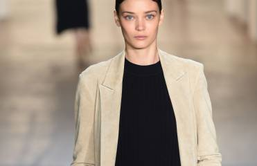 Sophisticated-chic: the wet-look chignon