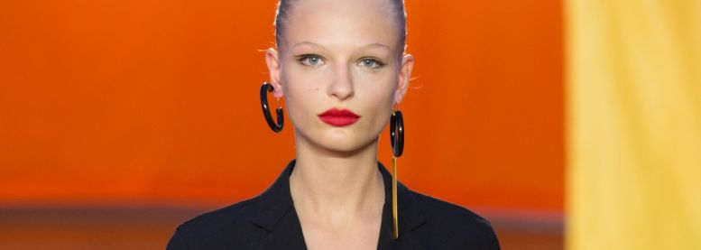 How can I create the wet look chignon from the Céline Fashion Show?