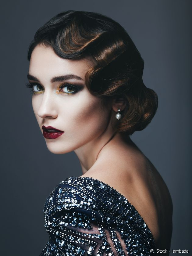 Go for the retro glamour of finger waves.