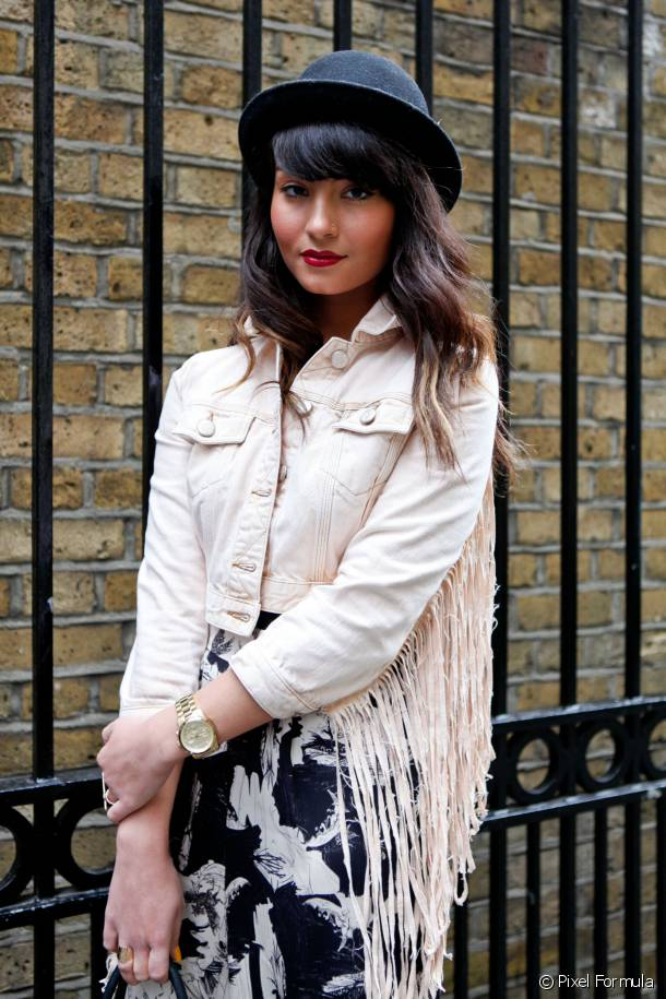 The hat and fringe: a great mix