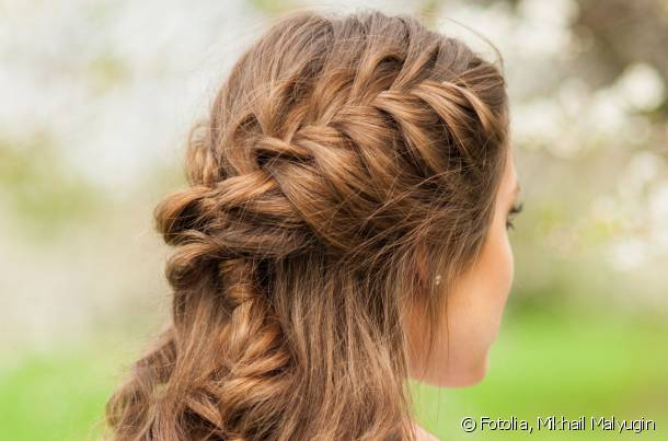 Opt for two sleek braids to make your hairstyle look more sophisticated.