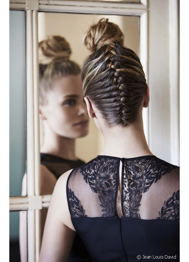 The braided bun: sophisticated and original.