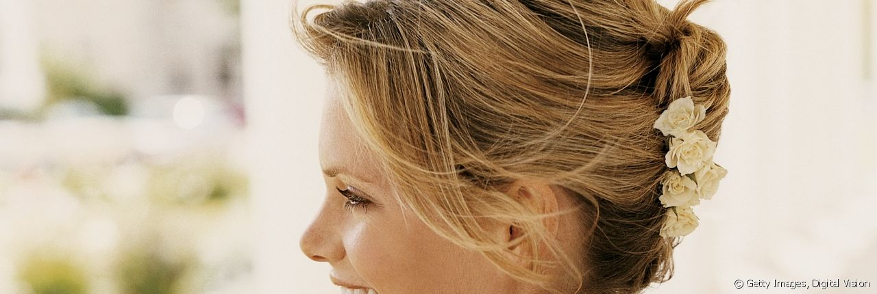 The most beautiful chignons for long hair.