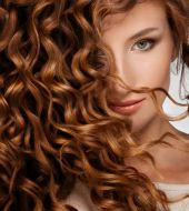 Styling products for glossy hair