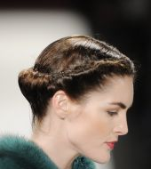Retro trend: Rolled hair