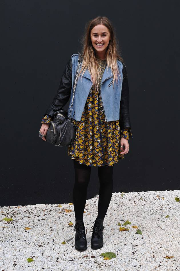 Streetstyle: Long ombré hair