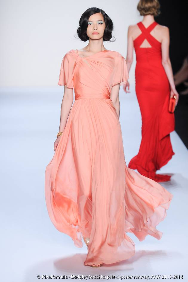 Rolled bobs take centre stage on the Badgley Mischka runway