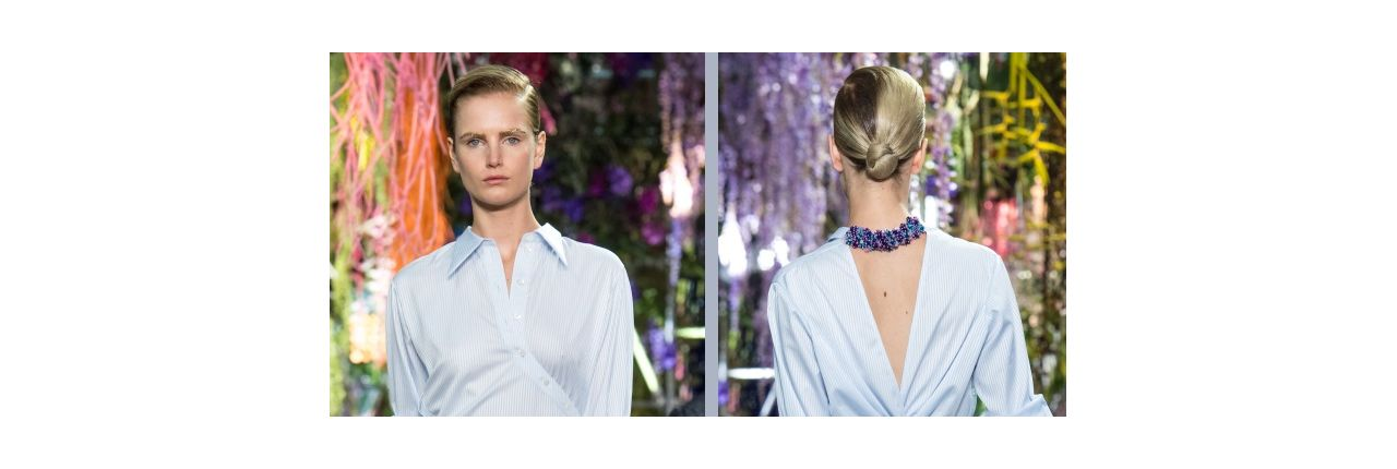 Step by step tutorial: the low chignon