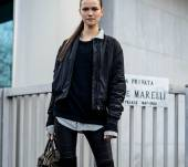 Streetstyle: the chic high ponytail