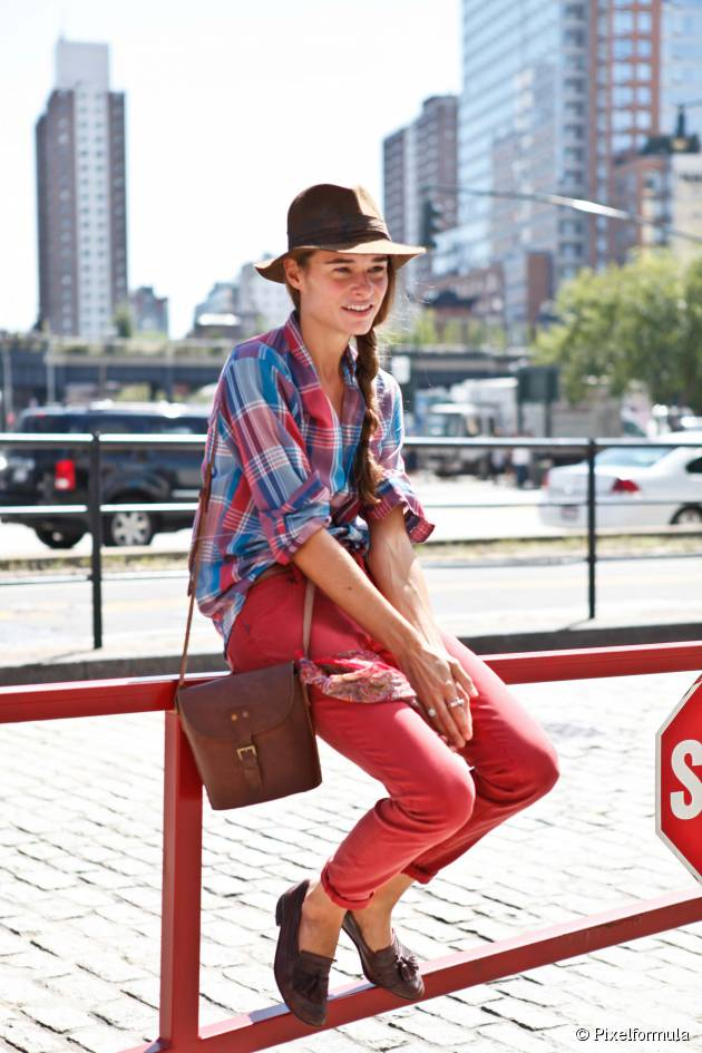 Perfect your side braid with a fedora hat